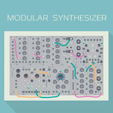 Limited edition of modular synthesizer. Vector illustration Stock Image