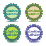 Limited edition stickers. Set of four limited edition stickers isolated on a white background Royalty Free Stock Images