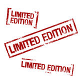 Limited Edition Vector Stamp Stock Images