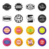 Limited edition, vintage, mega discont, dig sale.Label,set collection icons in black,flet style vector symbol stock. Illustration Royalty Free Stock Images