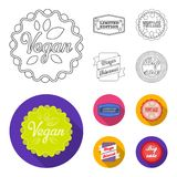 Limited edition, vintage, mega discont, dig sale.Label,set collection icons in outline,flat style vector symbol stock. Illustration Stock Photography