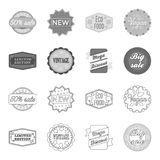 Limited edition, vintage, mega discont, dig sale.Label,set collection icons in outline,monochrome style vector symbol. Stock illustration Royalty Free Stock Photo