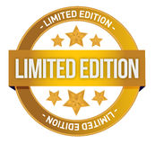 Limited Edition written inside the stamp Royalty Free Stock Image