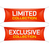 Limited and exclusive collection textile banners Royalty Free Stock Image
