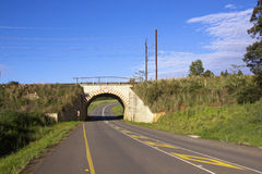 Limited Height Distruct Roadway Tunnel Under Railway Line Stock Photography