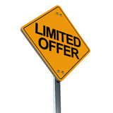 Limited offer. A signboard showing limited offer, concept of discount and sales, with limit on a special offer Stock Images