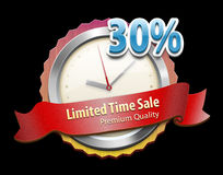 Limited offer badge. An illustration for a limited time offer and discount Royalty Free Stock Photos
