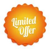 Limited Offer Badge. Orange limited offer ecommerce web business badge Stock Images