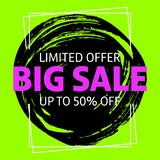 Limited offer big sale banner royalty free illustration