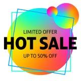 Limited offer big sale banner royalty free illustration