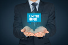 Limited offer stock images