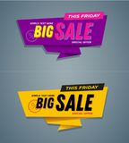 Limited Offer Mega Sale banner. Sale poster. Big sale, special offer, discounts, off Royalty Free Stock Photo