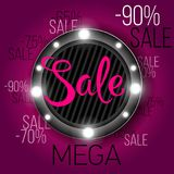 Limited Offer Mega Sale banner. Sale poster. Big sale, special offer, discounts, 60 off. Vector illustration. Limited Offer Mega Sale banner. Sale poster. Big Stock Photos