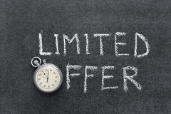 Limited offer Royalty Free Stock Images