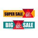 Limited offer promotion banner discount 60 vector. Design Stock Images