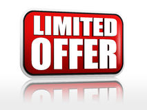 Limited offer -  red banner Royalty Free Stock Photo