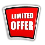 Limited offer on red banner royalty free illustration