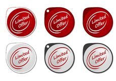 Limited Offer round sticker Stock Image
