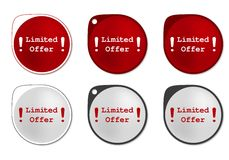 Limited Offer round sticker Royalty Free Stock Photography