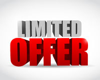 Limited offer text 3d message illustration design Royalty Free Stock Photography
