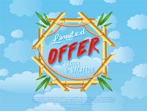 Limited offer of travel and vacation poster Stock Photos