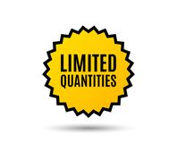 Limited quantities symbol. Special offer sign. Sale. Star button. Graphic design element. Vector Stock Photo