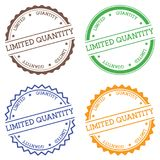 Limited quantity badge isolated on white. Limited quantity badge isolated on white background. Flat style round label with text. Circular emblem vector Royalty Free Stock Images