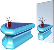 Limited reflections. Of vase and table in mirror Royalty Free Stock Image
