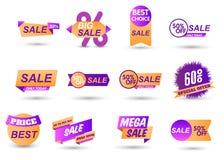 Limited sales offer label stock illustration