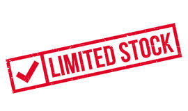 Limited Stock rubber stamp Royalty Free Stock Image