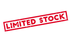 Limited Stock rubber stamp Stock Photo