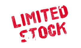 Limited Stock rubber stamp Stock Photography