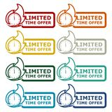 Limited Time Offer icons set. Vector icon royalty free illustration
