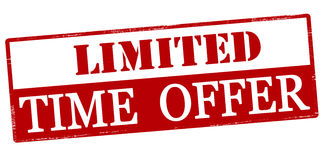 Limited time offer Royalty Free Stock Photography