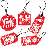 Limited time offer tag set, vector illustration Stock Photo