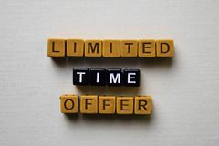 Limited Time Offer on wooden blocks. Business and inspiration concept royalty free stock image
