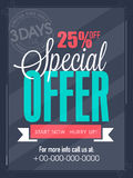 Limited time sale flyer, banner or template. Stock Images