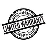 Limited Warranty rubber stamp. Grunge design with dust scratches. Effects can be easily removed for a clean, crisp look. Color is easily changed Stock Image