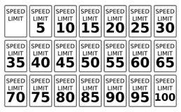 Limites de velocidade ilustração stock