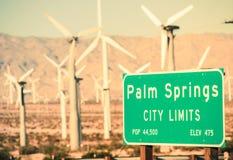 Limiti di città del Palm Springs immagine stock
