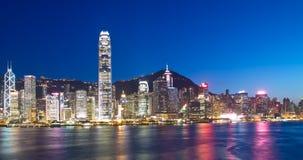 Limiti di Hong Kong alla notte fotografia stock libera da diritti