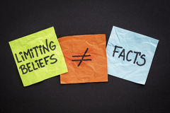 Limiting beliefs are not facts royalty free stock photography