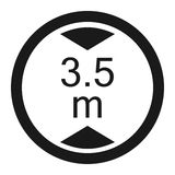 Limiting height prohibition sign line icon. Limiting height prohibition line icon, Traffic and road sign, vector graphics, a solid pattern on a white background Royalty Free Stock Photos