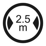 Limiting width sign line icon. Limiting width line icon, Traffic and road sign, vector graphics, a solid pattern on a white background, eps 10 Stock Image