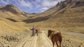 Limitless space on a trek in Ladakh Royalty Free Stock Image