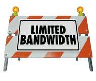 Limitowana Bandwidth bariery znaka blokady budowa 3d Illustra ilustracja wektor