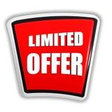 Limitowana oferta na czerwonym sztandarze Zdjęcie Stock