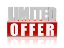 Limitowana oferta w 3d listach i bloku Zdjęcie Stock