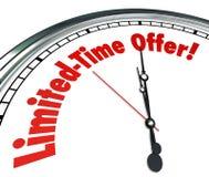 Limitowanej czas oferty zegaru oszczędzania Specjalnej sprzedaży Poremanentowy wydarzenie Dea Obrazy Stock