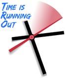 Limitowany czas biega out zegarowego Fotografia Royalty Free